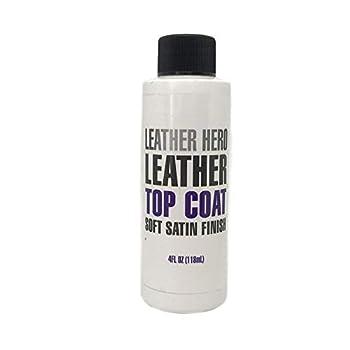 Leather Hero Satin Top Coat Leather Sealant Color Restorer 4oz