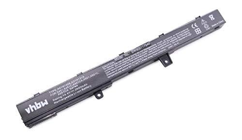 vhbw Batería Compatible con ASUS F451MA-VX106H, F451MA-VX308H, F451MA-VX708H, F551, F551C, F551CA-SX040H Notebook (2600mAh 14,4V Li-Ion Negro)