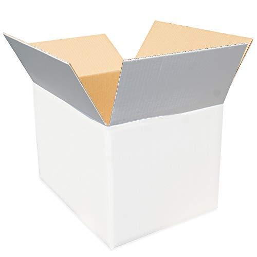 ダンボールキング 強化ダンボール 120サイズ (外寸46×35.5×32cm) 白箱5枚