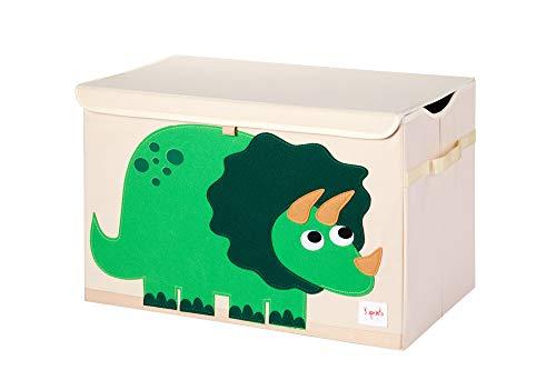 3 Sprouts - Spielzeugtruhe für Kinder - Ablagetruhe für Jungen- und Mädchenzimmer, Dinosaurier
