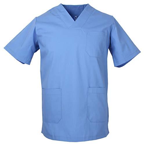 Misemiya Camiseta Casaca Unfiromes Sanitarios Unisex Camisa de sanitario, Hombre