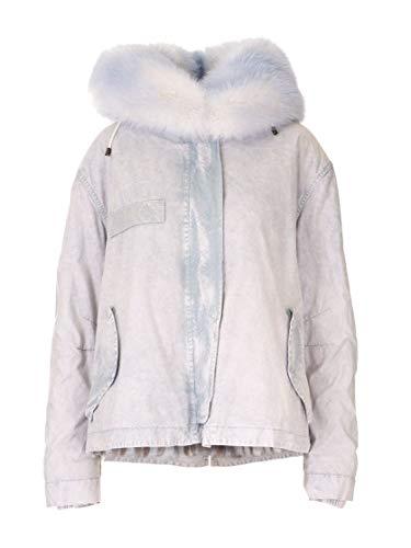 MR&MRS ITALY Luxury Fashion Damen XPC0151556501 Grau Baumwolle Mantel | Herbst Winter 19