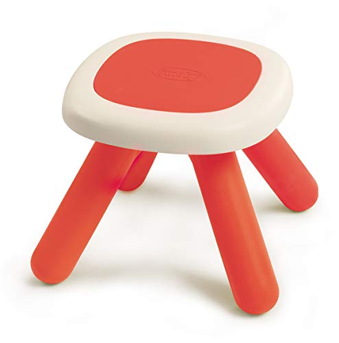 Smoby 880203 kinderkruk rood, design kinderkruk van kunststof, kinderstoel voor kinderkamer of geschikt voor smoby speelhuisjes, Made in France, rood
