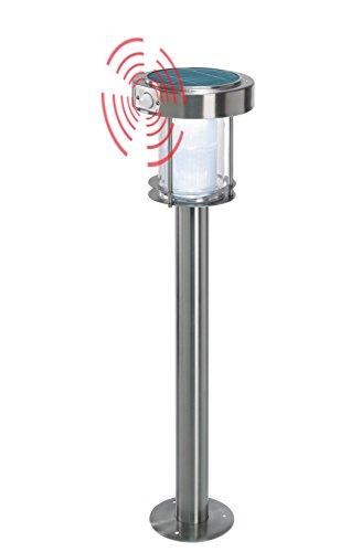 Solaire LED Capteur Borne Lumineuse Terni - Couleur de la Lumière 6500K Blanc Froid - Max. 85 Lm Lichtstrom - Ultra Large 1,2 Watt Module - Dimensions (Ø X Hauteur): 18 X 80 cm - Lampe Lampadaire
