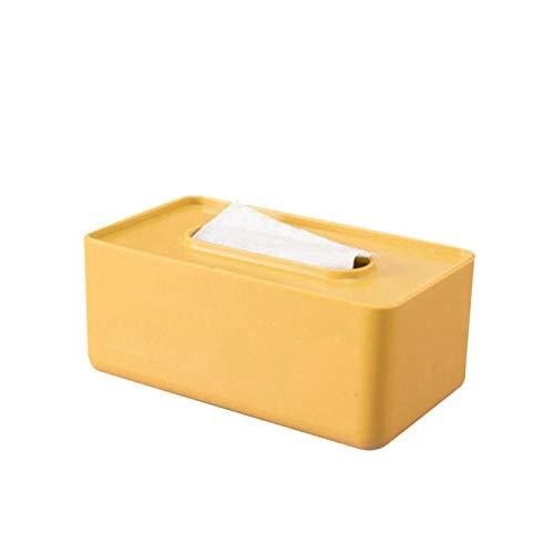 FQYYDD Caja de servilletas Caja de plástico para pañuelos Soporte para pañuelos húmedos Toallitas para bebés Caja de Almacenamiento de Papel Dispensador de Toallas de Papel de Amarillo