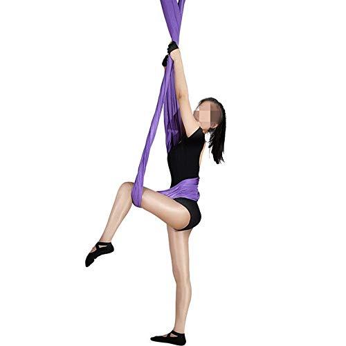 Alegre Hamaca de yoga Anti-Gravedad Micro-Gravedad Yoga Micro-Elástico Estudio Estudio de Yoga Hamaca aérea puede colgarlo en el marco de la puerta y columpio en la viga expuesta o incluso colgada en