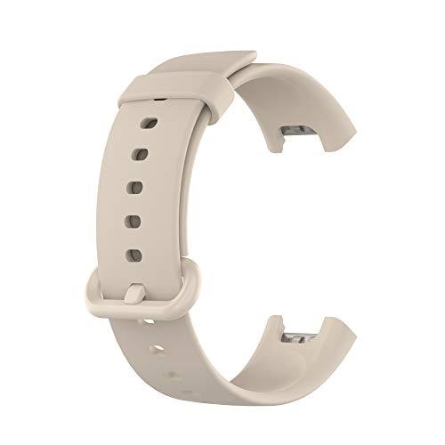 Correas de Reloj,Correa para Xiaomi Mi Watch Lite,Bandas Correa Repuesto,Flexible Silicona Reloj Recambio Ajustable Brazalete Watch Correa Repuesto para Xiaomi Mi Watch Lite/Redmi Watch (blanco)