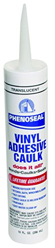 Dap - Phenoseal 00006 Translucent Phenoseal Does It All! Vinyl Adhesive Caulk