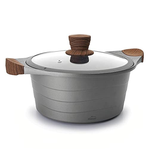 Lacor 27324 Alta, Cacerola Tapa Cristal Stilo, Compatibilidad: todo tipo de cocinas, incluida la Inducción, Fabricada en...
