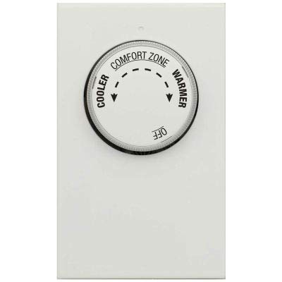 LUX Line Voltage Mechanical Thermostat LV21-1 Stage Heat Only, Single or Double Pole 120/240 VAC - Pkg Qty 5