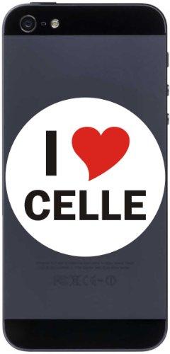 I Love Aufkleber 7 cm mit Stadtname CELLE - Decal - Sticker - Handy - Handyskin - Handyaufkleber - Telefonaufkleber / JDM / Die cut / OEM