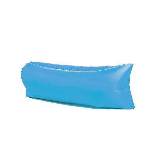 Sofá hinchable Protable, colchón impermeable para exteriores, con bolsa de transporte para viajes, camping, piscina, playa (azul cielo)