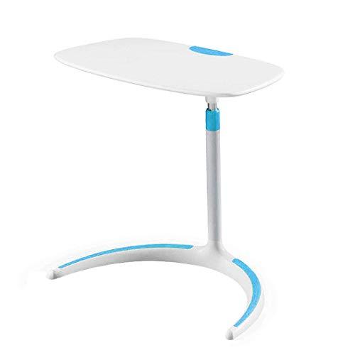 Mesa de sobrecama, fácil de mover/instalar 38,5 cm x 58 cm de altura plana grande ajustable sobrecama, escritorio de oficina portátil mesa elevadora O.