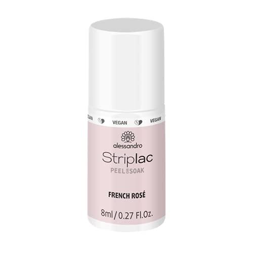 alessandro Striplac Peel or Soak French Rosé – LED-Nagellack in zartem Rosé für eine klassische French Maniküre – Für perfekte Nägel in 15 Minuten – 1 x 8ml