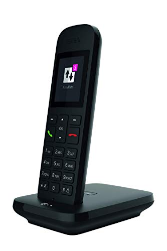 Telekom Sinus 12 in Schwarz Festnetz Telefon schnurlos, 5 cm Farbdisplay, beleuchtete Tastatur   Anschlussunabhängige Nutzung an Allen handelsüblichen Routern und Standardanschlüssen