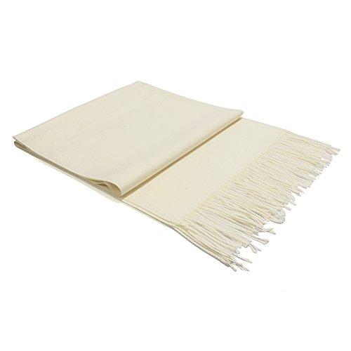 Pulchram Unisex Schal Quaste Halstuch aus Cashmink ultra Weich für Damen & Herren, Herbst- Und Winterschals Reine Farbe Nachahmung Schals (Beige)