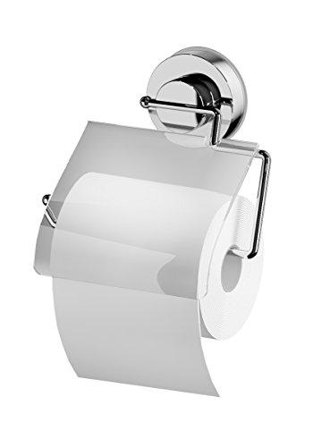 RIDDER 12100000 WC-Papierhalter, Toilettenpapierhalter mit Saugnapf, transparent