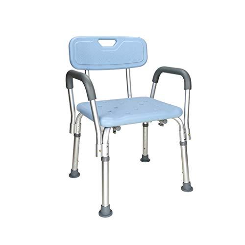 Chairs Shower Elderly Bathroom Non-Slip Bath Pregnant Woman Bath Stool Shower with Backrest Armrest TAOY