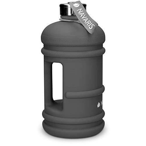 Navaris 2,2 Liter Fitness Trinkflasche - XXL Flasche Gym Bottle BPA frei - Sport Wasserflasche Water Jug - Sportflasche stabil versch. Farben