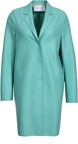 Harris Wharf London Damen Mantel Cocoon aus Schurwolle in Türkis 46 IT/L
