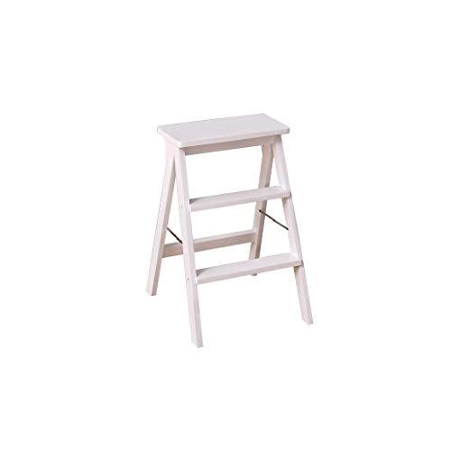 GUOXY Multifunktions-3 Schritte Folding Stufenleiter Stuhl- Massivholz Leiter Stuhl Indoor Creative Multi-Purpose Täglichen Bedarfs,B