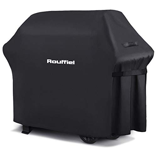 Rouffiel BBQ Grill Covers 58 inch Heavy Duty Waterproof Gas Grill Cover Outdoor Barbecue Cover AntiUV Fade Resistant and Rip Proof Fits Grills of Weber CharBroil Nexgrill Brinkmann Jenn Air