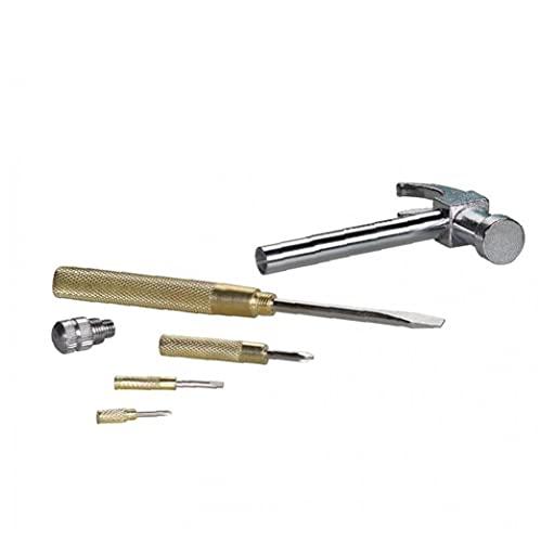 Martillo y destornillador 6-en-1 Manual de cobre Hammer Herramientas Pequeño multifuncional de acero inoxidable para Goldsmiths pequeñas máquinas de reparación