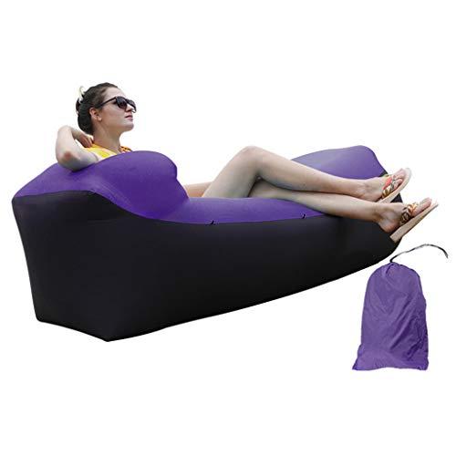 Sofá Inflable, sillón reclinable Inflable, Bolsa de Aire Inflable portátil al Aire Libre, Bolsa de Frijoles Perezoso, Impermeable, a Prueba de rasguños y a Prueba de roturas, sin Necesidad de Bombea