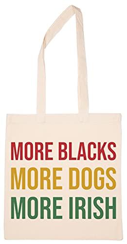 More Blacks Dogs Irish Wiederverwendbar Einkaufen Lebensmittelgeschäft Baumwolle Tasche Reusable Shopping Bag