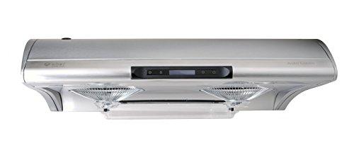 "Chef Range Hood 30"" C400 | TASTEMAKER | Stainless Steel Slim Under Cabinet Range Hood Design | Water Auto Clean, 750 CFM, Halogen Lamps, Touch Screen with Digital Clock, 3 Way Venting | 6 Speeds"
