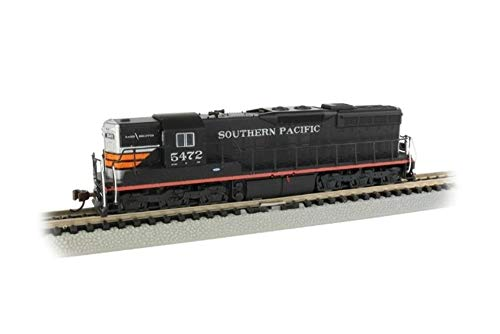 Bachmann Trains EMD SD9 Sound Value Equipped Locomotive - Southern Pacific #5472 (Black Widow) - N Scale, Prototypical Colors (62351)