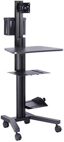 Triprel Sales Inc. Black Mobile Home Office PC Printer Computer Cart R Cheap mail order sales