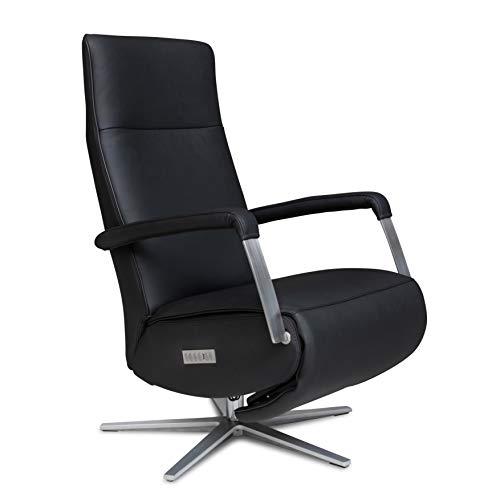 WELCON Relaxsessel und TV Sessel STYLISTA in Echtleder schwarz