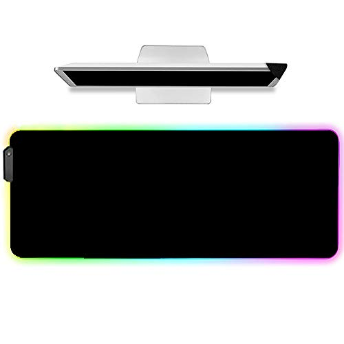 LIEBIRD Extended Long RGB Mouse pad XXL Light up Computer Gaming Mouse pad XXL Big Large Giant led (Black)