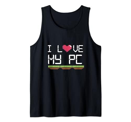 Amo Mi PC Gamer Juego Jugando Ordenador Jugar A En Línea VR Camiseta sin Mangas