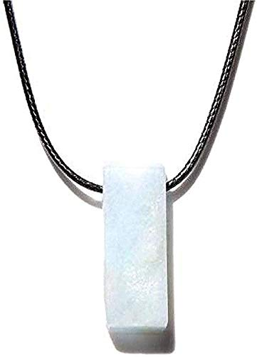 Collar para mujer Collar para hombre Collar colgante Collares Piedra natural Slice Point Collar de perlas Amazonita cruda Lapislázuli Turquesa Collares de perlas para mujeres Hombres Joyería para muje
