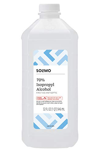 Amazon Brand - Solimo 70% Isopropyl Alcohol First Aid...