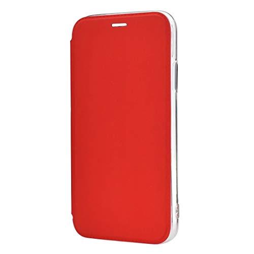 HULDORO Encantador -Solid Color Llanda PU + TPU Mirror Funda de Cuero para iPhone 11 Pro (Negro) Carcasa de telefono (Color : Red)