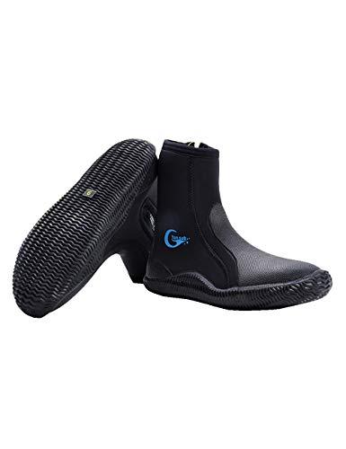 CUKKE Oceanic 6 5 mm geformt Sohle Tauchen Neo Classic Stiefel (Schwarz 39)