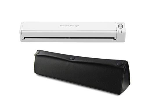 Fujitsu White Scansnap IX100 Mobile Scanner Bundle with Case (IX100 Bundled with case)