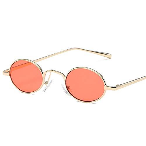 Gafas de sol para mujer y mujer, de metal, color rojo, transparente, tamaño pequeño
