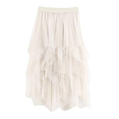 Sayla Faldas Mujer Verano Fiesta Sexy Elegante Tutu Moda Largo Chiffon Tul Cintura Alta Plisada Tutú Falda Damas Midi Vestidos
