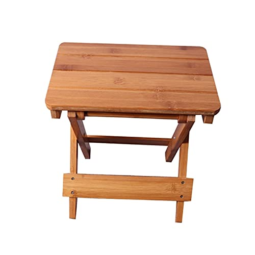 IHIO Bamboo Folding Stool Portable Household Solid Bamboo taburet Outdoor Fishing Chair Small Bench Square Stool Kids Furniture