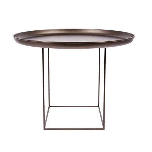 NORR 11 Duke Medium Beistelltisch Ø 70cm, Bronze Tischplatte abnehmbar H: 39cm