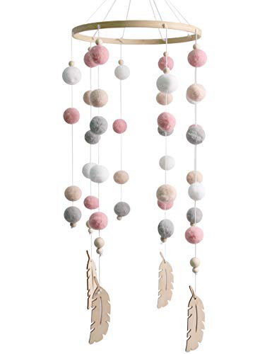 Baby Crib Nursery Mobiles Girl Wooden Beads for Children Boys Girls Babies Bed Room Designer Colors to Match Nursery Delight