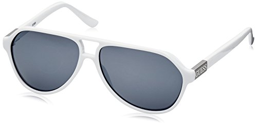 Guess Guf107Wht-3F61 Gafas de sol, Blanco, 61 para Hombre
