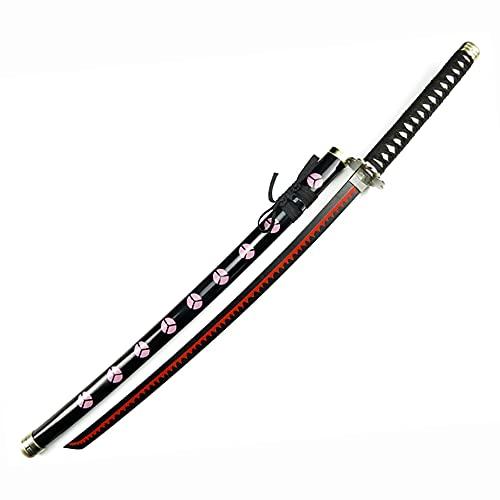 ZWH-box Accesorio de Espada de Arma de Madera Japonesa, para Roronoa Zoro, una Pieza Cosplay Samurai Sword Anime Ninja Katana Arma, colección, 104cm