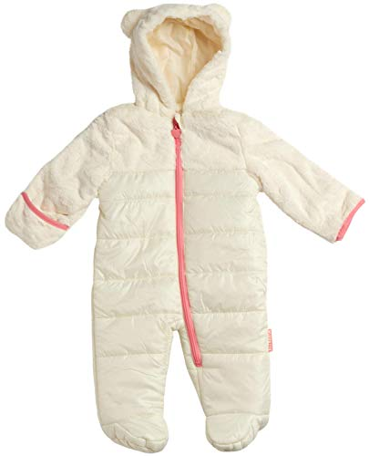 Wippette Baby Girls Snowsuit Poly Filled Pram with Fur Trim, Size 3-6 Months, Cream