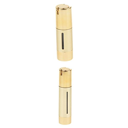 MagiDeal 2 Pcs Rechargeable Flacon Airless Stérile Pompe à Vide en Plastique Bouteille de Lotion Parfum Crème pour Voyage - 30/50ml