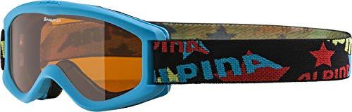 Alpina Skibrille Carvy 2.0, Gafas infatiles de esquí, Azul (cyan slt 488), Talla única